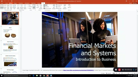 Thumbnail for entry Ch. 4 Financial Markets and Systems