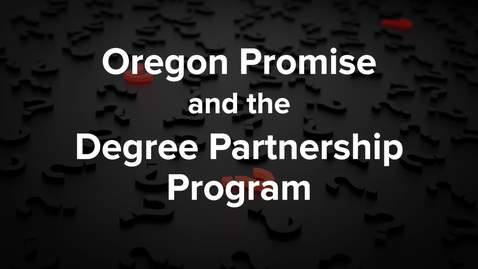 Thumbnail for entry Oregon Promise and DPP