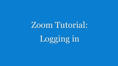 Thumbnail for entry Zoom Tutorial - logging in