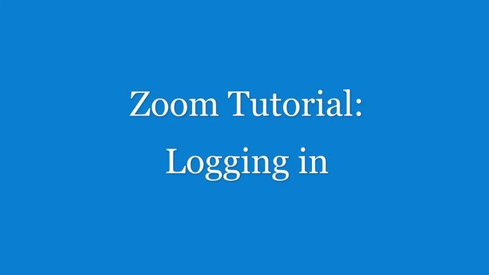 Zoom Tutorial - logging in