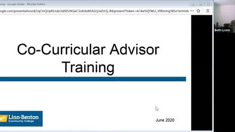Thumbnail for entry Co-curricular Fall Training 2020