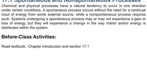 Thumbnail for entry 17.1: Spontaneous & Nonspontaneous Processes