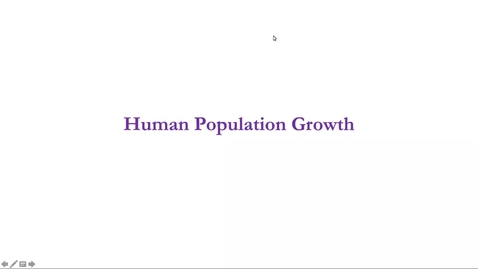 Thumbnail for entry Lecture 2.3: Human Population Growth