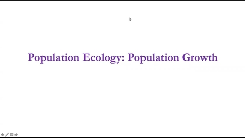 Thumbnail for entry Lecture 2.1: Population Dynamics: Population Growth