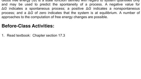 Thumbnail for entry 17.3: Gibbs Free Energy