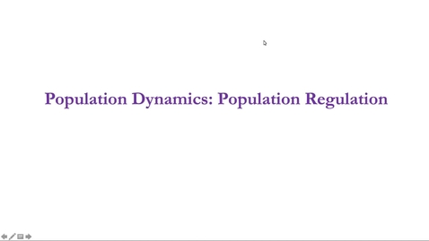 Thumbnail for entry Lecture 2.2: Population Dynamics: Population Regulation
