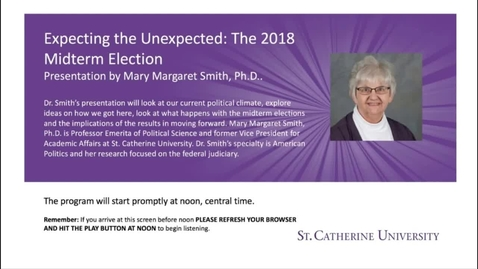 Thumbnail for entry Expecting the Unexpected-The 2018 Midterm Election - CC