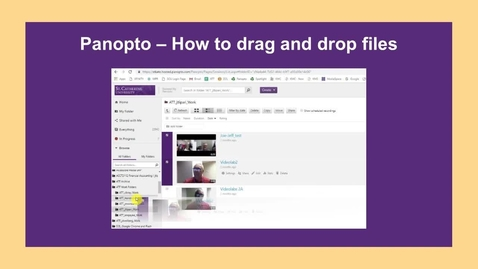 Thumbnail for entry How to Drag and Drop from one folder to another - CC