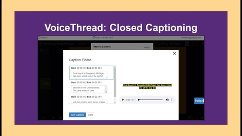 Thumbnail for entry VoiceThread Closed Captioning - NC