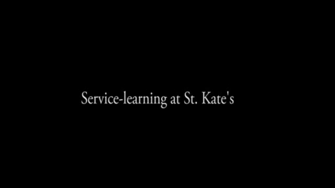 Thumbnail for entry What is service learning. - CC