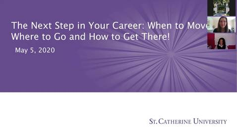 Thumbnail for entry MayThao Schuck - The next step in your career - CC