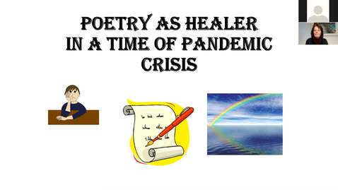Thumbnail for entry  Geri Chavis - Poetry as a Healer in a Time of Pandemic - CC