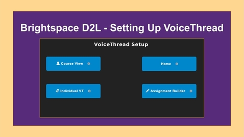 Thumbnail for entry VoiceThread-Setting Up in a Course - NC