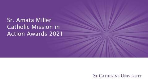 Thumbnail for entry Amata Miller Awards 2021 - CC