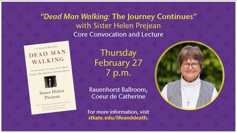 Thumbnail for entry Sr Helen Prejean - Dead Man Walking: The Journey Continues - CC