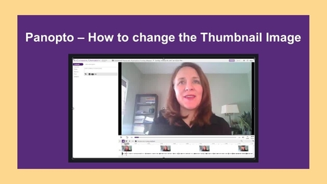 Thumbnail for entry How to Change the Thumbnail Image - CC