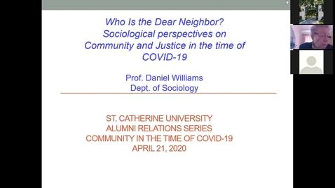 Thumbnail for entry Daniel Williams - Who is the Dear Neighbor - CC