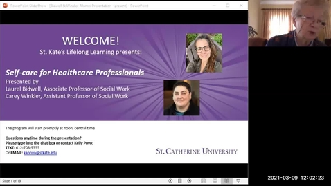 Thumbnail for entry Self Care for Healthcare Professionals - CC