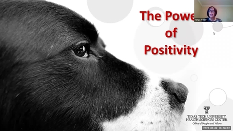 Thumbnail for entry 2021 Mar 2  The Power of Positivity