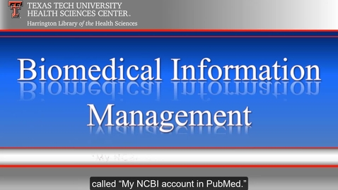 Thumbnail for entry TTUHSC Libraries_Amarillo BioMed Video Series 2 of 6.