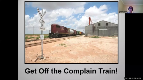 Thumbnail for entry 2021 Mar 25  Get Off the Complain Train