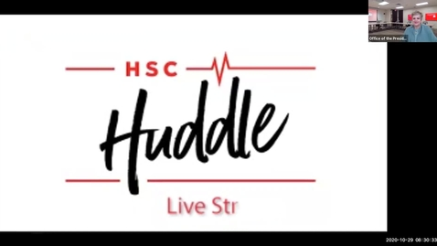 Thumbnail for entry HSC Huddle Special Edition Dallas Campus | October 29, 2020