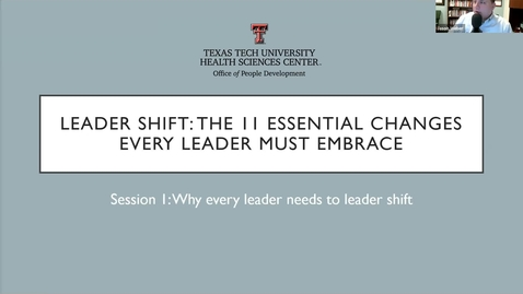 Thumbnail for entry Webinar: Leadershift Session 1
