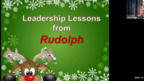 Thumbnail for entry 10/09/20 Leadership Lessons from Rudolph