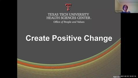 Thumbnail for entry 2021 Feb 23  Create Positive Change