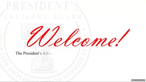 Thumbnail for entry Presidents Advisory Board October 2020