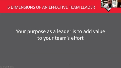 Thumbnail for entry 6 Dimensions of an effective Team Leader - One Team Fellows