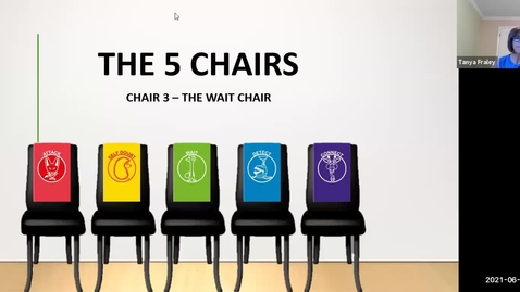 Thumbnail for entry 2021 June 15  The 5 Chairs - Chair 3 The Wait Chair (the Meerkat)