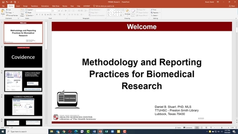 Thumbnail for entry TTUHSC Libraries Biomedical Database Research Tutorial