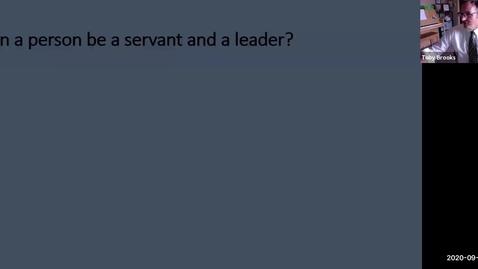 Thumbnail for entry Sept 23 2020 Servant Leader