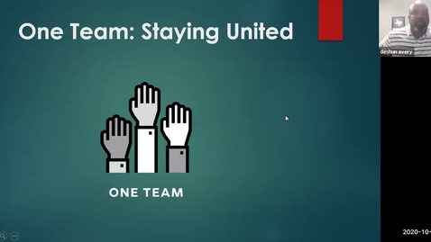 Thumbnail for entry Oct 08 2020 One Team: Staying United