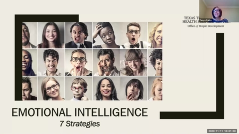 Thumbnail for entry 2020 Nov 11  Emotional Intelligence 7 Strategies