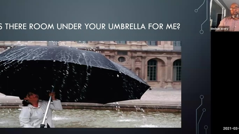 Thumbnail for entry 03/18/2021 Is there room under your umbrella for me?