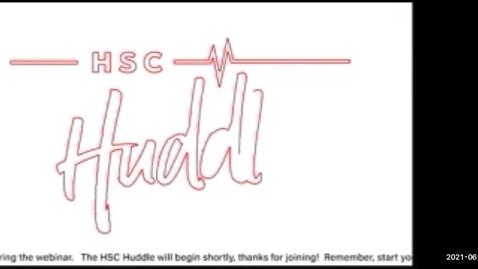 Thumbnail for entry HSC Huddle June 2021