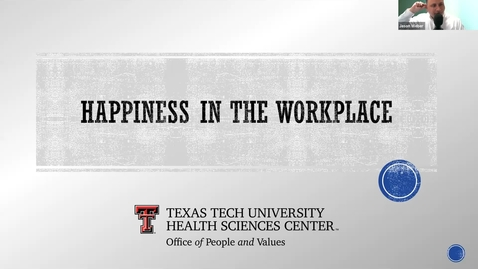 Thumbnail for entry 2021 03 16 Happiness in the workplace