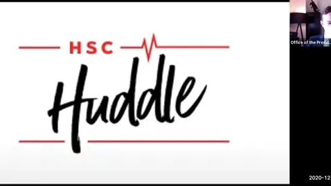 Thumbnail for entry HSC Huddle December 2020