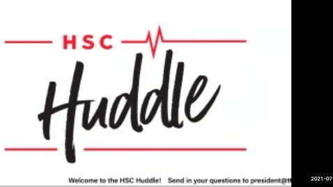Thumbnail for entry HSC Huddle Special Edition Town Hall