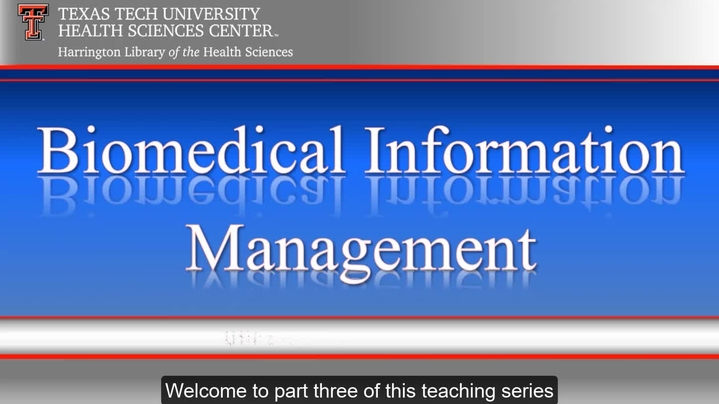 Thumbnail for channel TTUHSC Libraries