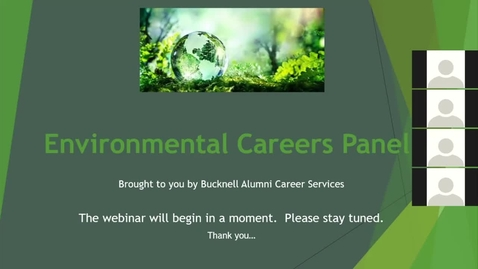 Thumbnail for entry Environmental Careers