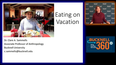 Thumbnail for entry BU360-Eating on Vacation