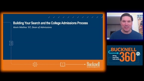 Thumbnail for entry BU360 - Building your Search and the College Admissions Process