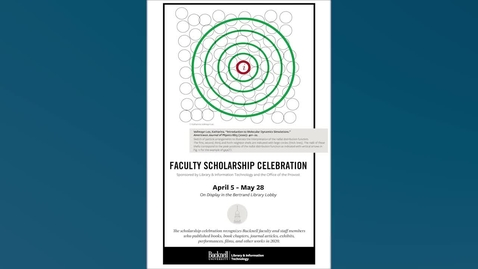 Thumbnail for entry 2021 Faculty Scholarship Celebration Video