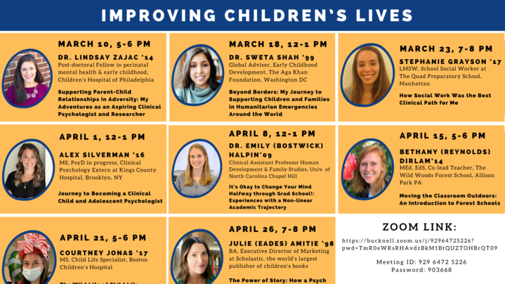 Thumbnail for channel 2021 Psychology Alumnae Series: Improving Children's Lives