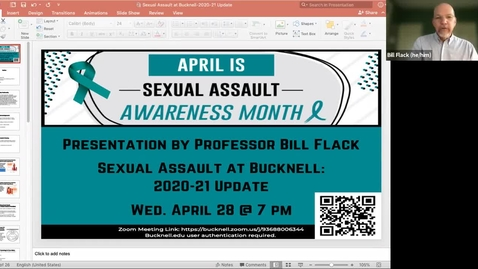 Thumbnail for entry Sexual Assault at Bucknell: 2020-21 Update