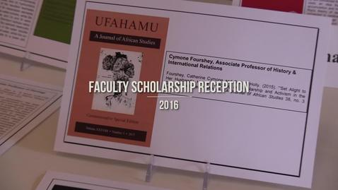 Faculty Scholarship Reception 2016