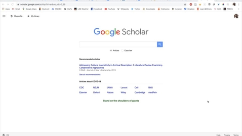 Thumbnail for entry Connecting Google Scholar to Bucknell Library